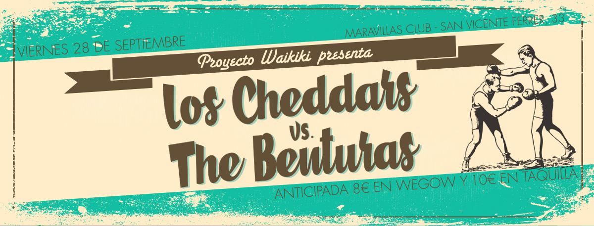 Proyecto Waikiki: Los Cheddars + The Benturas
