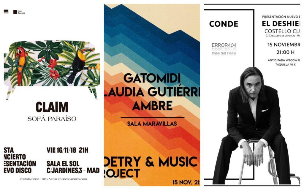 Conciertos imperdibles: Conde, Monte Terror, Los Garage...