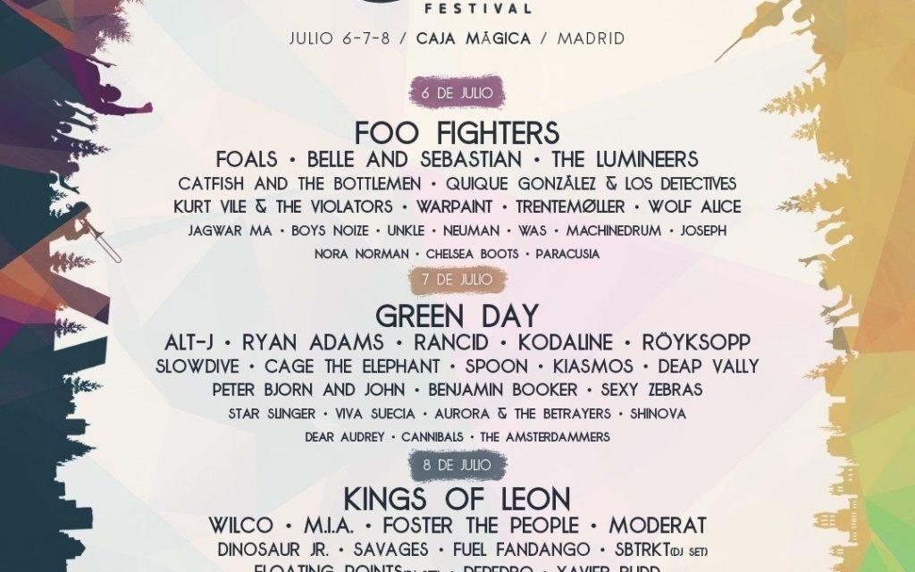 La parte baja del cartel: Mad Cool Festival