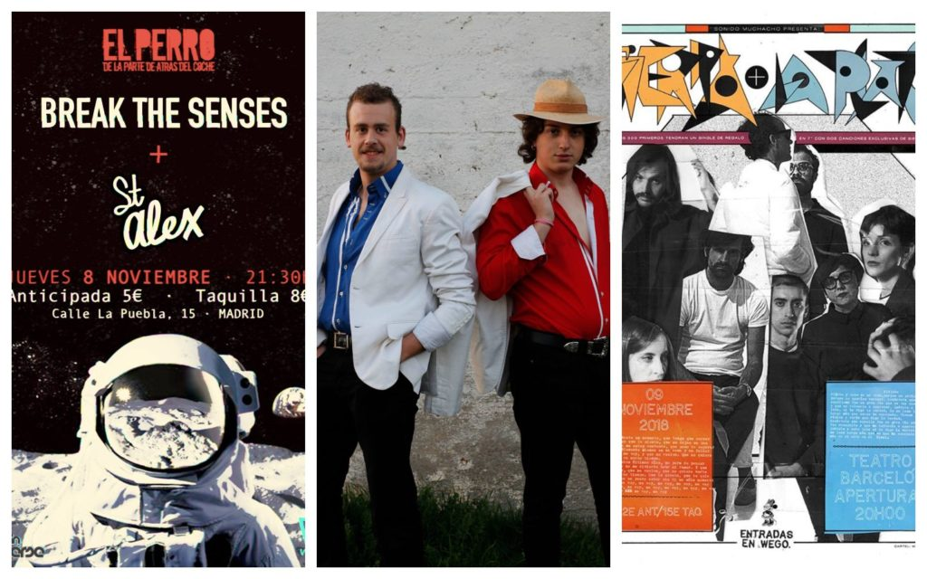Conciertos imperdibles: Break the Senses, Casi Reptil, Nunatak...