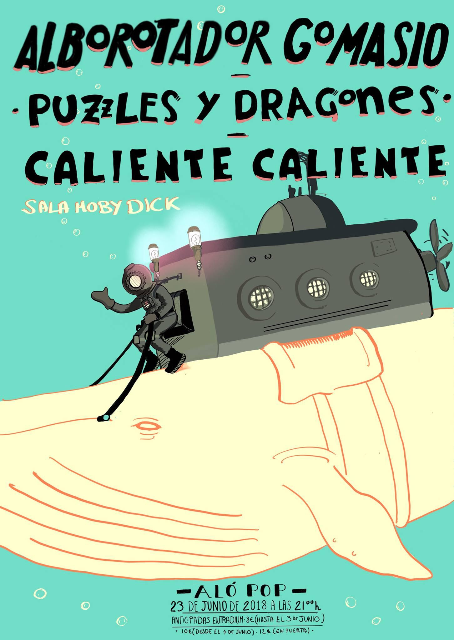 Alborotador Gomasio, Puzzles y Dragones y Caliente Caliente