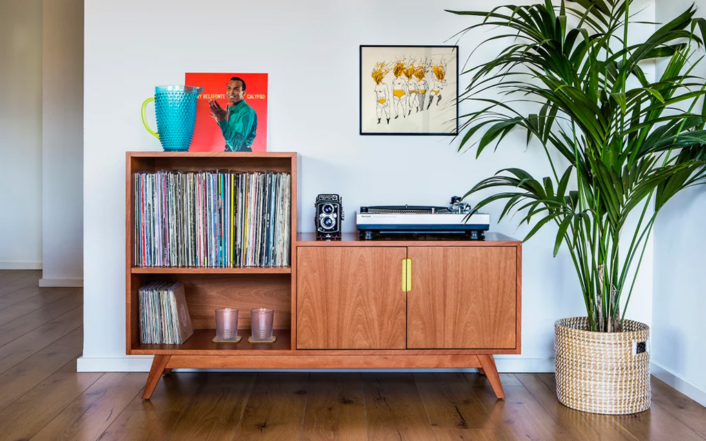 Mueble vinilos - Regalos originales músicos