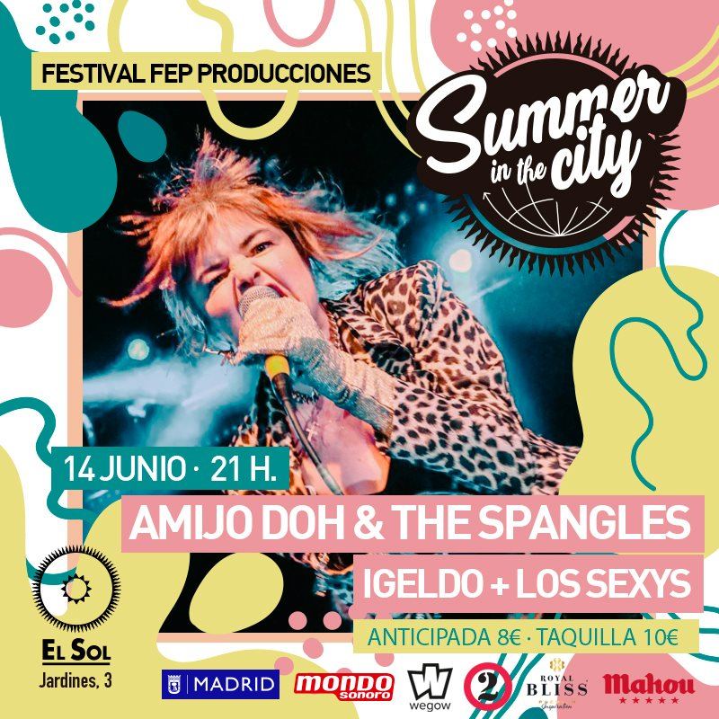 Summer in the City: AmyJo Doh & The Spangles + Igeldo + Los Sexys