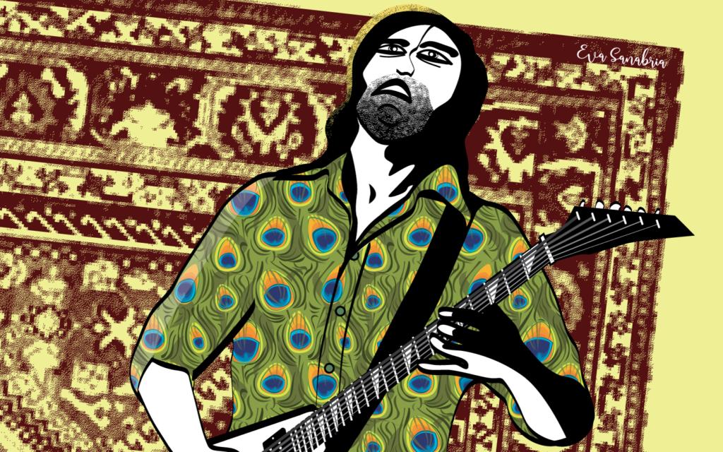 Alfombrario pop: guitarrista pesado