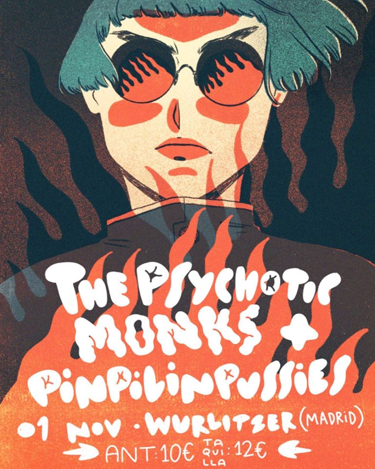 The Psychotic Monks + Pinpilinpussies - Cartel: Ariadna Schneider