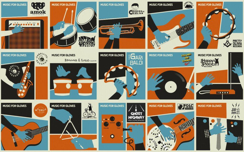Music for Gloves: 26 sellos con la sanidad
